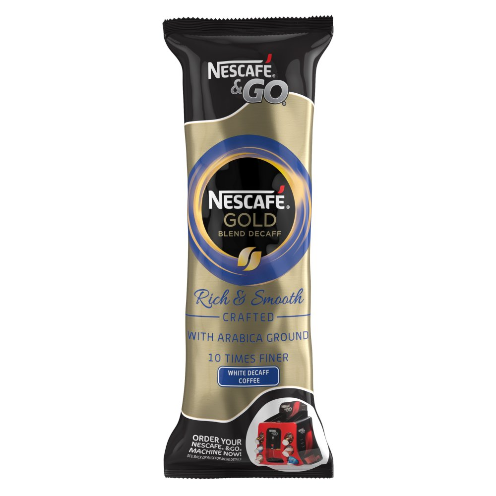 Nescafé &Go Gold White Decaff Coffee Sleeve of 8 Cups x7.2g