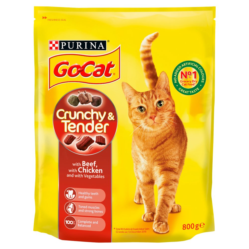 Go Cat Crunchy N Tender Beef & Chicken