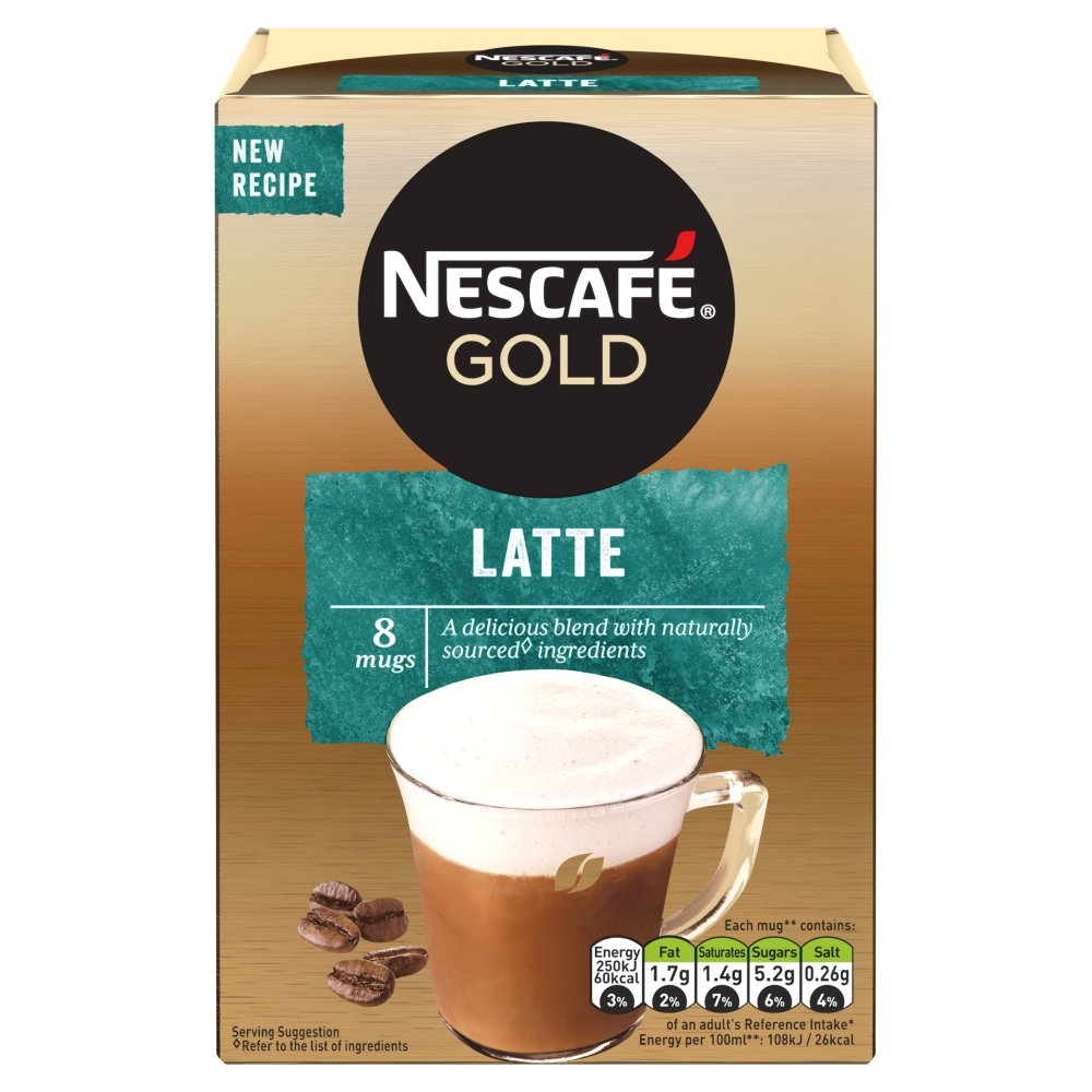 Nescafe Cafe Menu Latte Coffee 8 Sachets