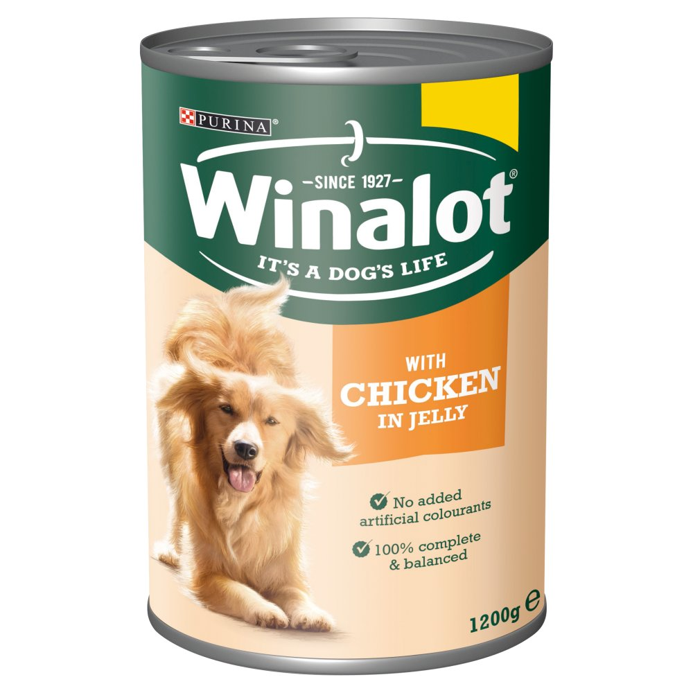 WINALOT Classics Tinned Dog Food Chicken in Jelly 1.2kg