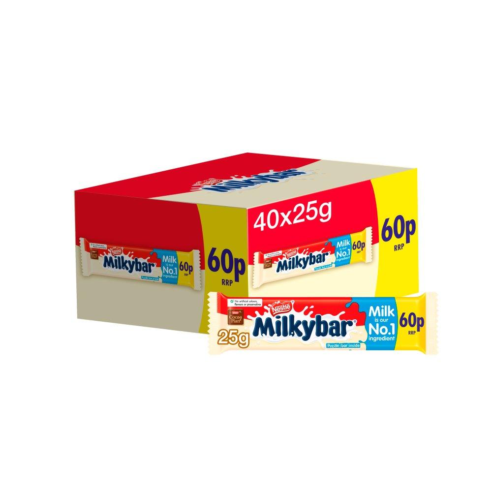 Milkybar White Chocolate Medium Bar 25g PMP 60p