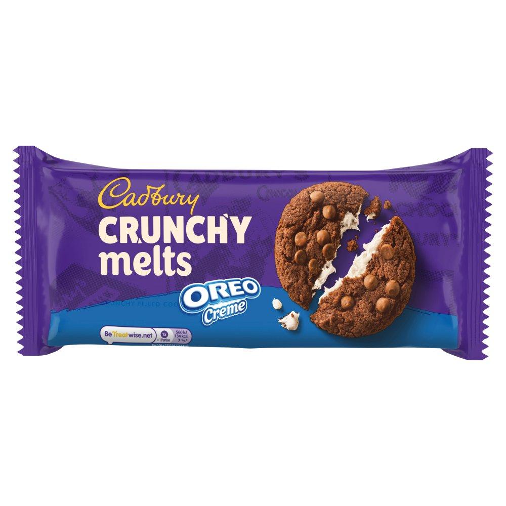 Cadbury Crunchy Melts Oreo Creme Chocolate Cookies 156g