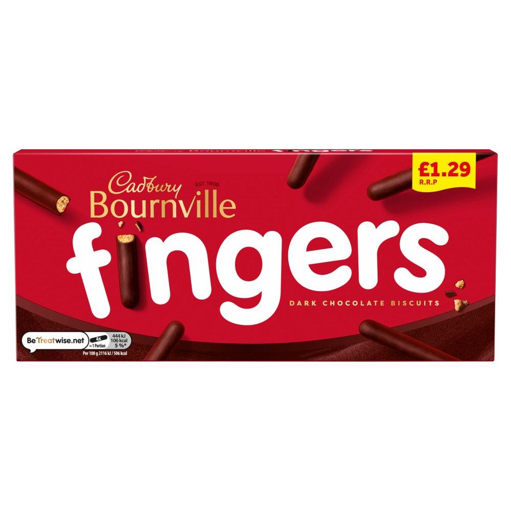 Cadbury Bournville Fingers Dark Chocolate Biscuits 1.29£ 114g