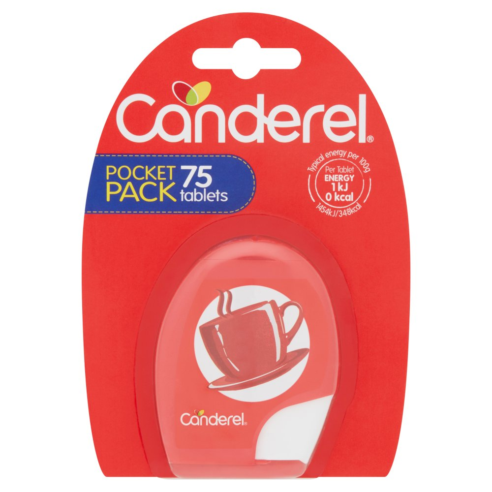 Canderel Calorie Free Sweetener 75 Tablets 6.38g