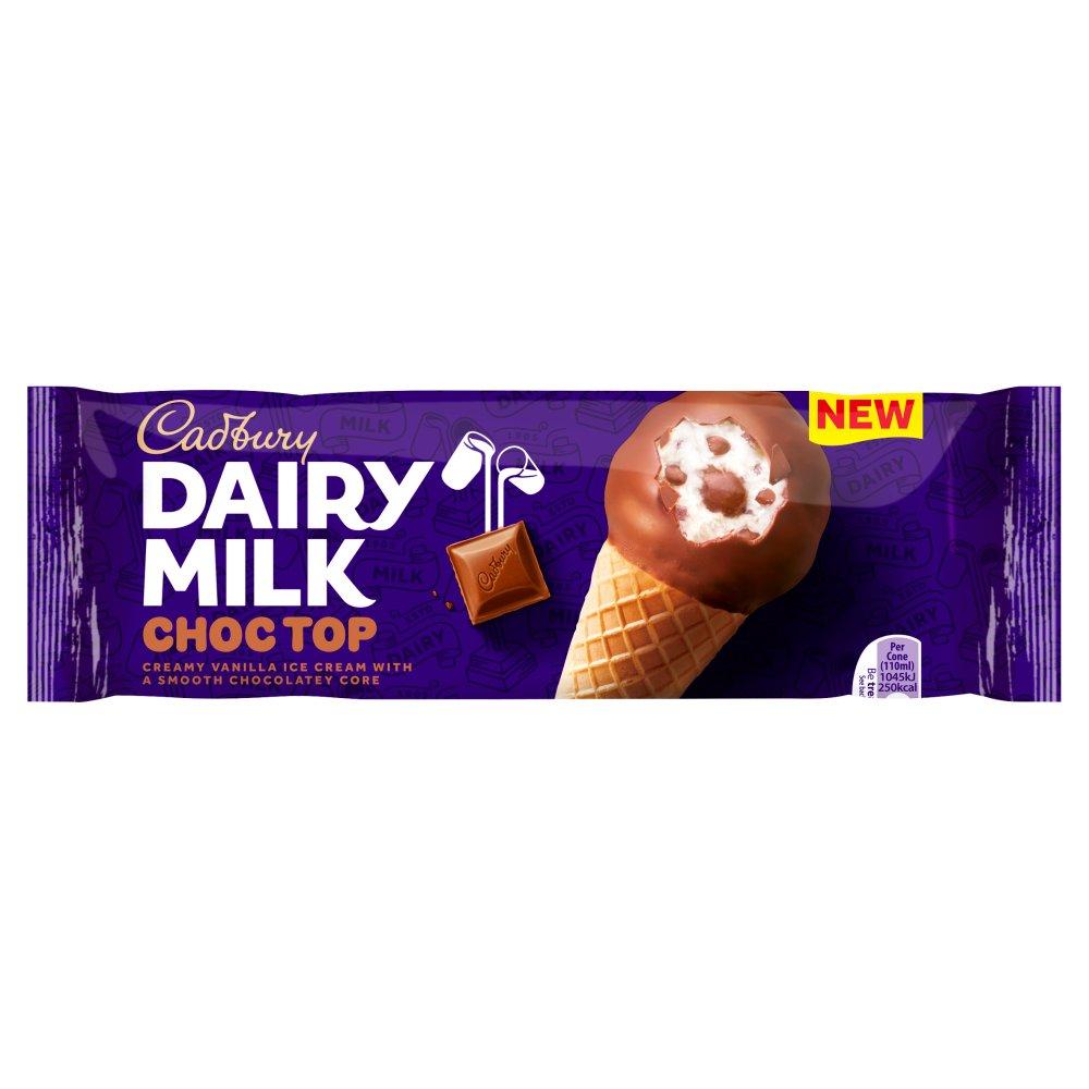 Cadbury Dairy Milk Choc Top Ice Cream Cone 110ml