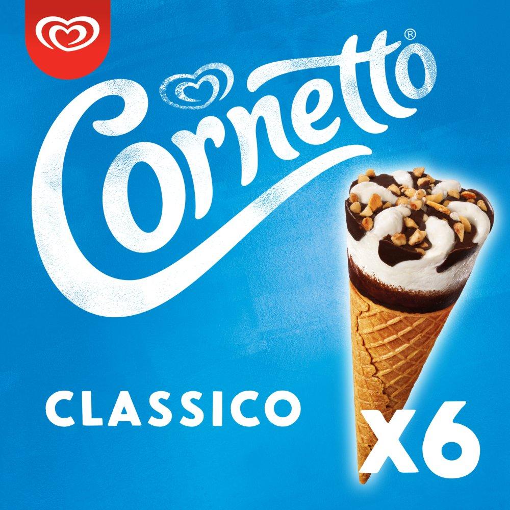Cornetto Classico Ice cream cone 6 x 90 ml