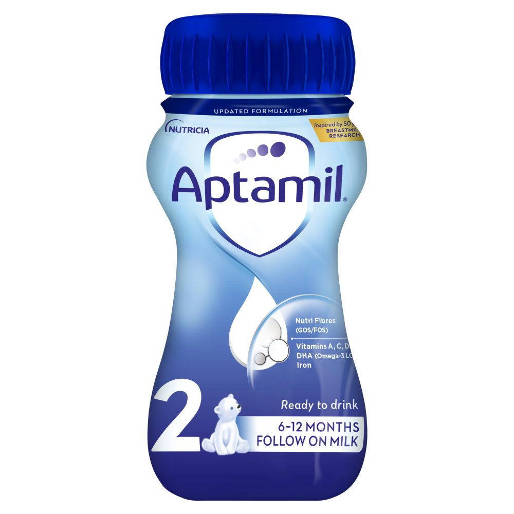 Aptamil 2 Follow On Baby Milk Formula 6-12 Months 200ml