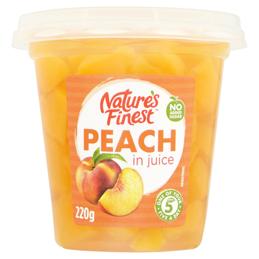 Nature's Finest Peach in Juice 220g