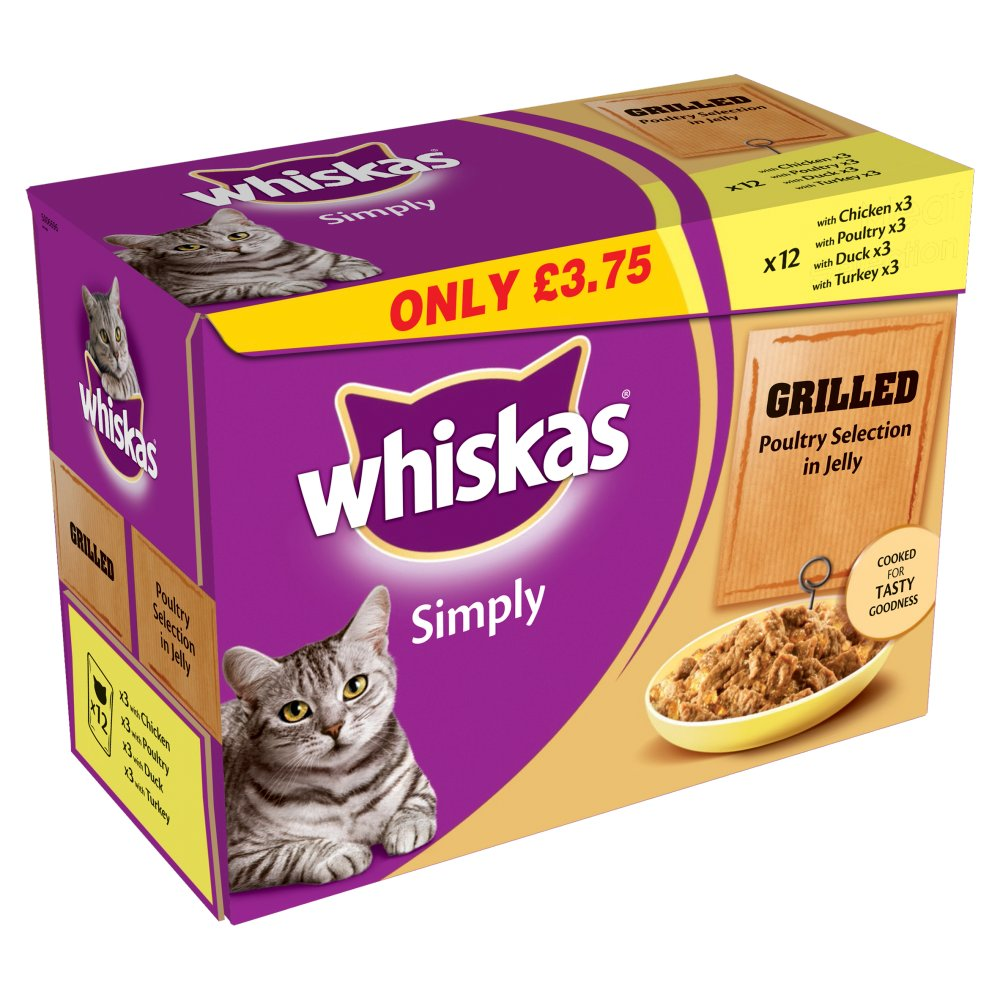 Whiskas Simply Grilled Poultry £3.75 12 Pack
