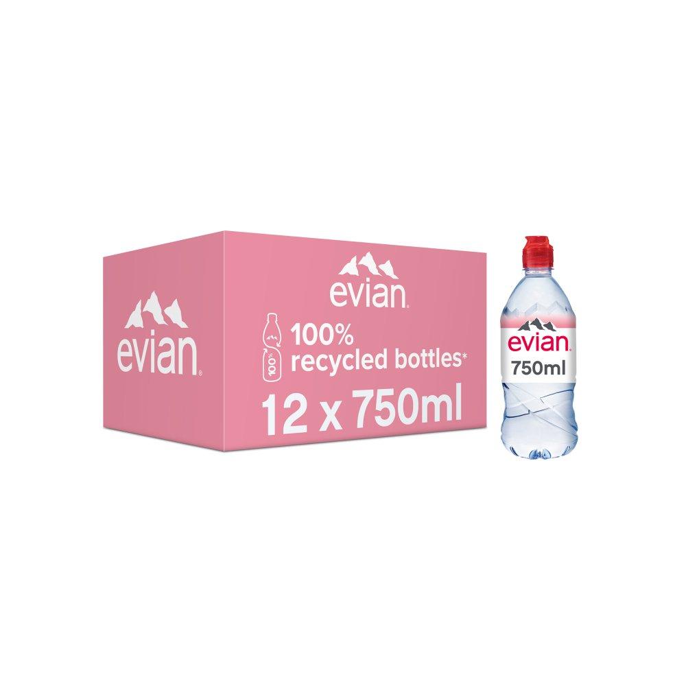 evian Still Natural Mineral Water 12 x 750ml
