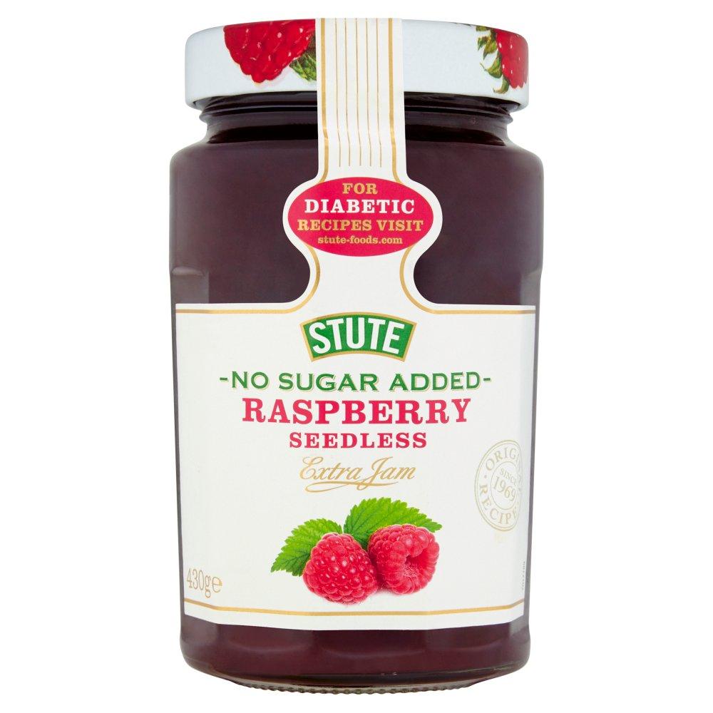Stute No Sugar Added Raspberry Seedless Extra Jam 430g