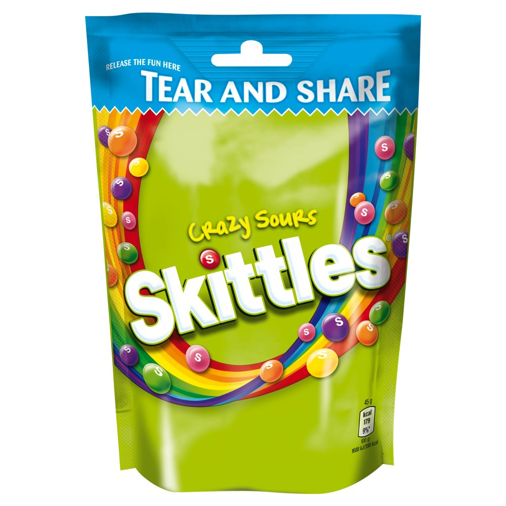 Skittles Crazy Sour Pouch
