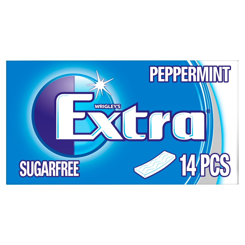 Extra Peppermint Chewing Gum Sugar Free 14 Sticks