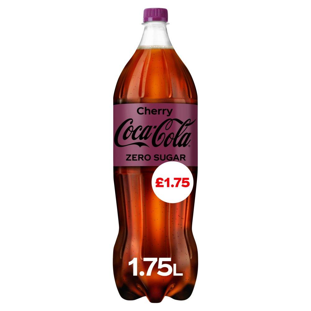 Coca-Cola Zero Sugar Cherry 1.75L PM £1.75