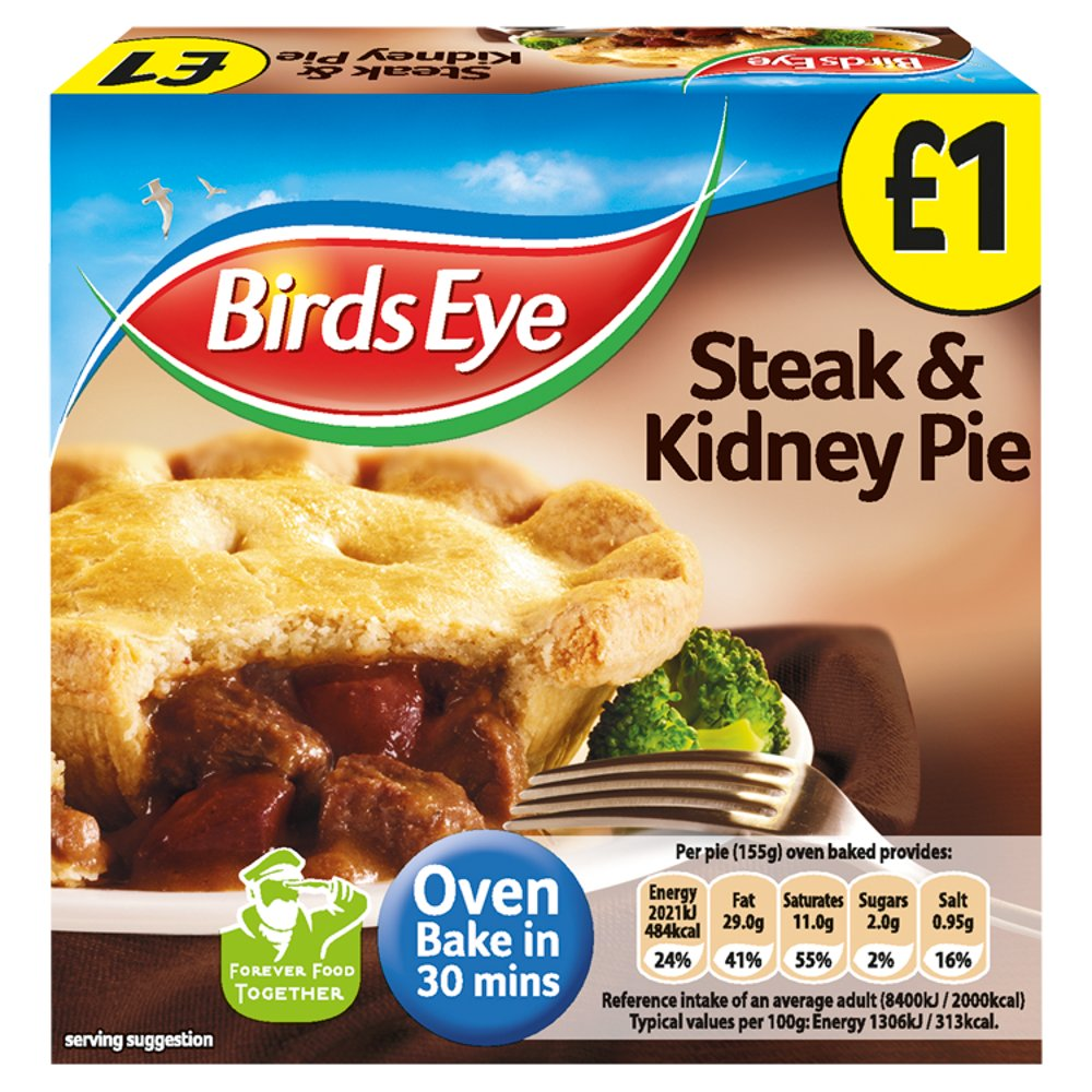 Birds Eye Steak & Kidney Pie PM £1