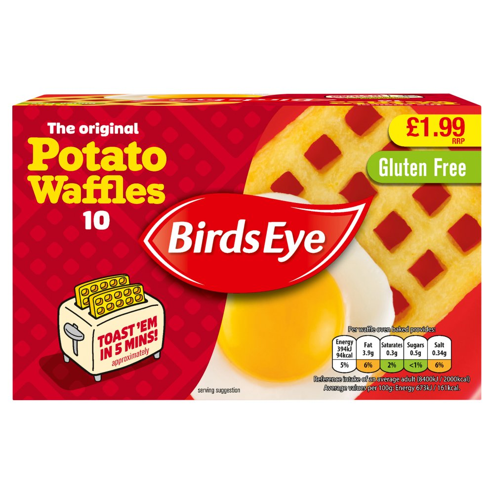 Birds Eye The Original 10 Potato Waffles 567g