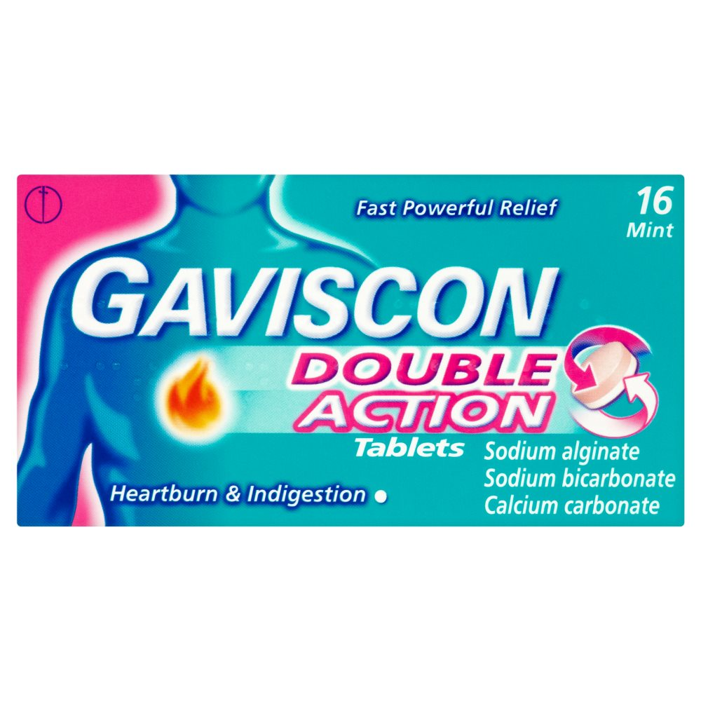 Gaviscon Indigestion Double Action Tablets 16s