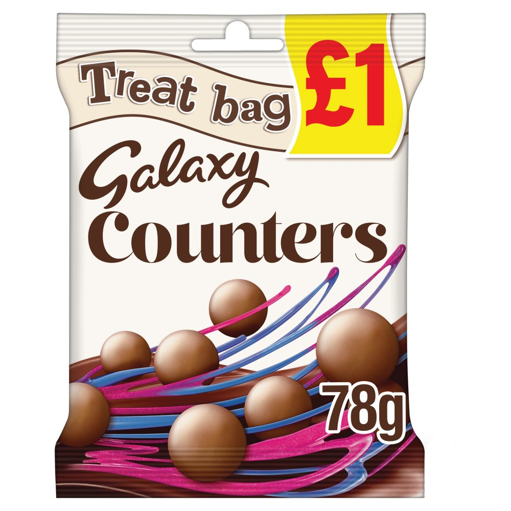 Galaxy Counters Chocolate £1 PMP Treat Bag 78g