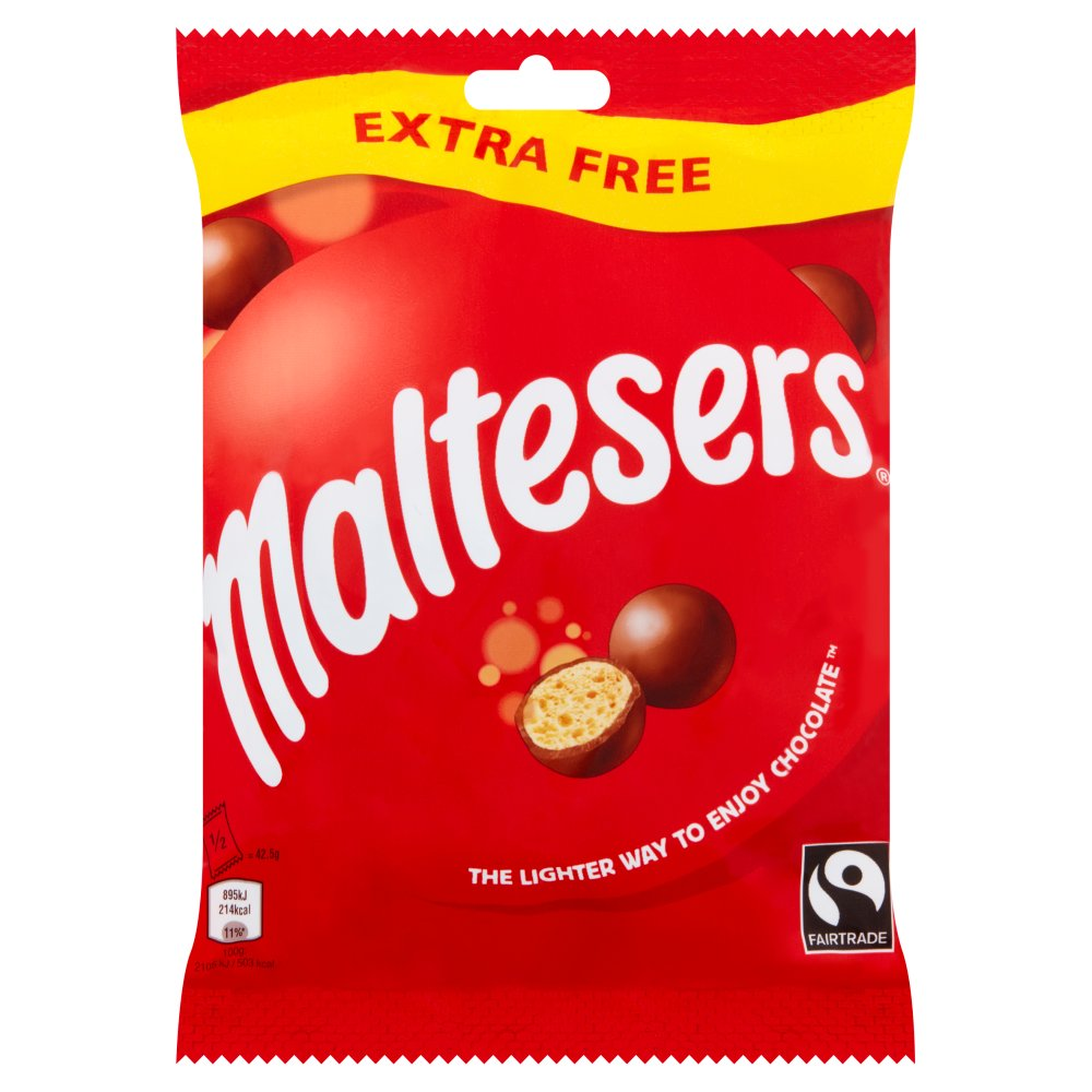 Maltesers Chocolate Extra Free Treat Bag 85g