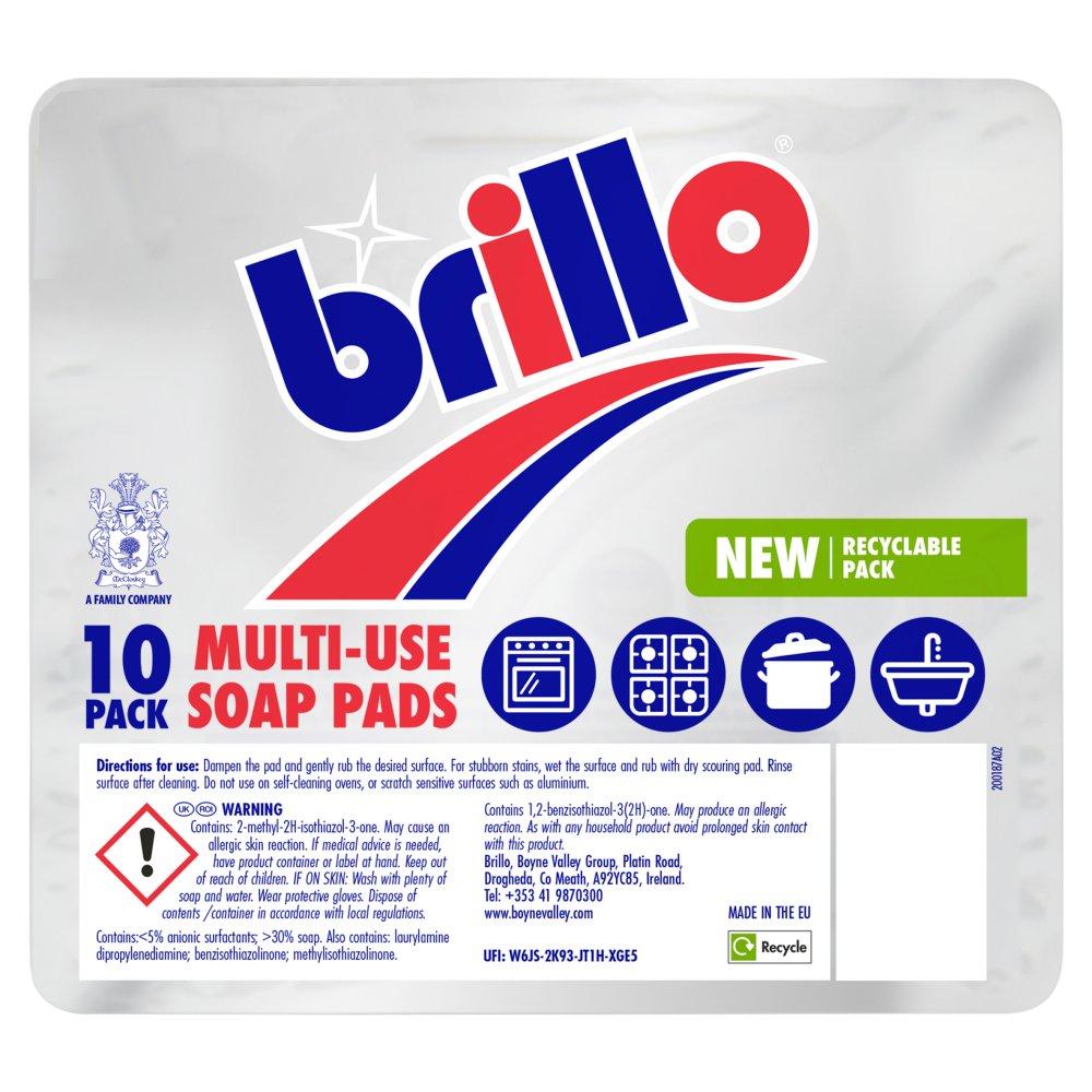 Brillo Multi-Use Soap Pads 10 per pack