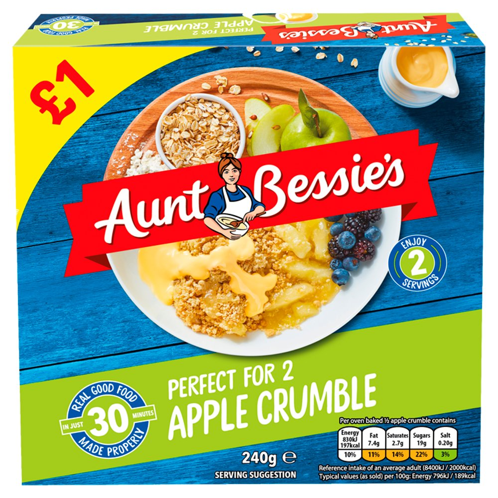Aunt Bessie's Apple Crumble 240g