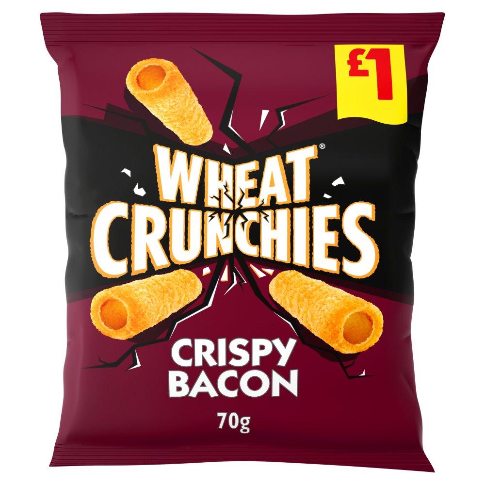 Wheat Crunchies Bacon Crisps 70g £1 PMP