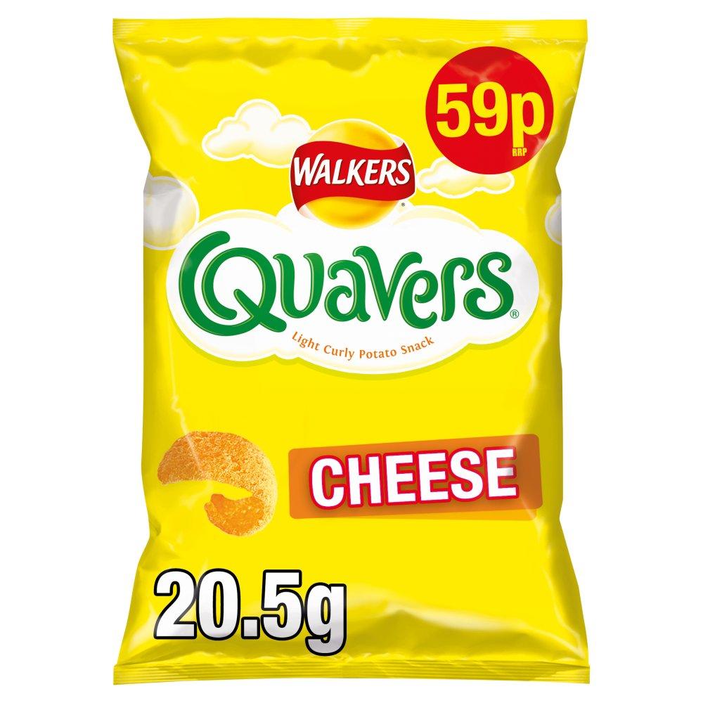 Walkers Quavers Cheese Snacks 59p RRP PMP 20.5g