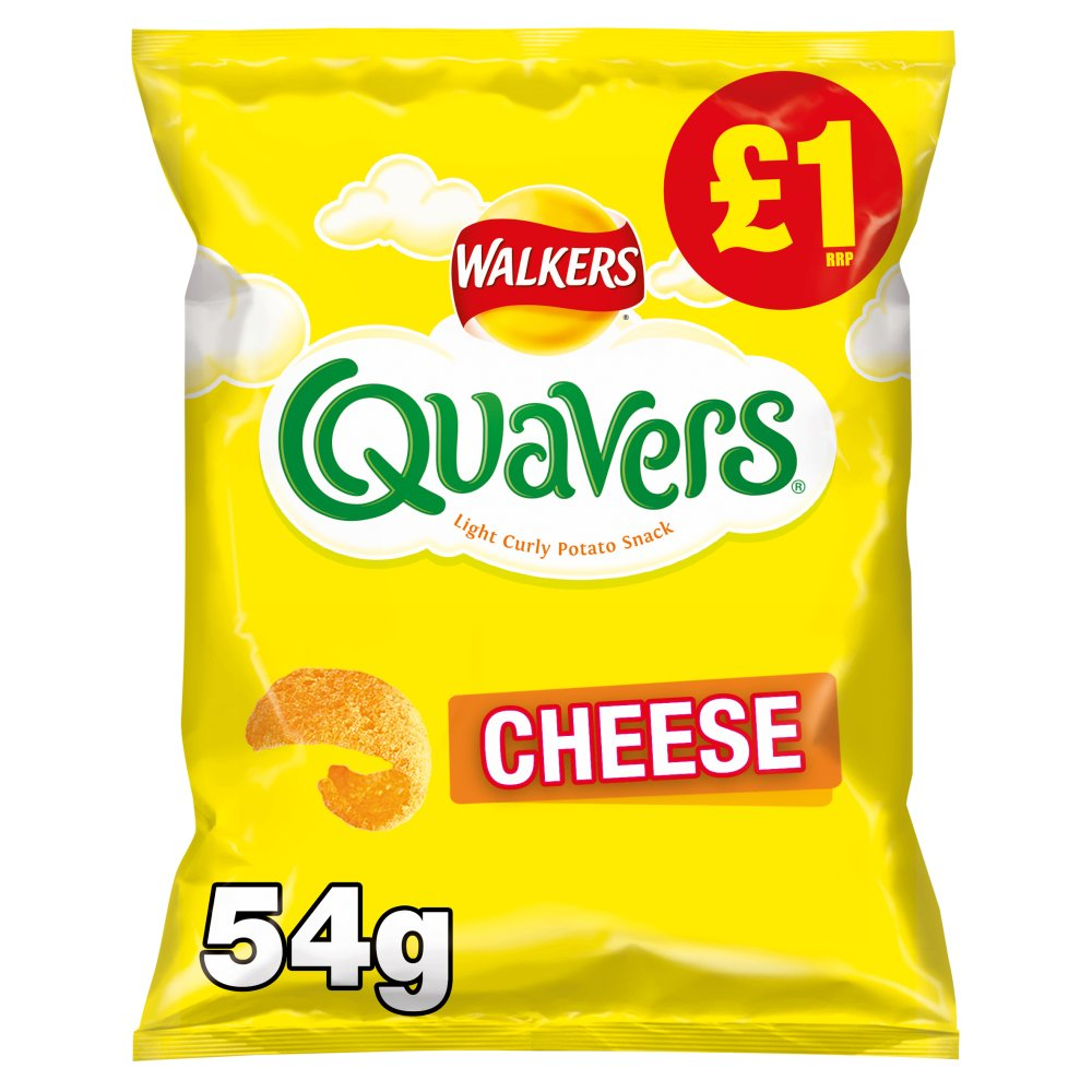 Walkers Quavers Cheese Snacks £1 RRP PMP 54g