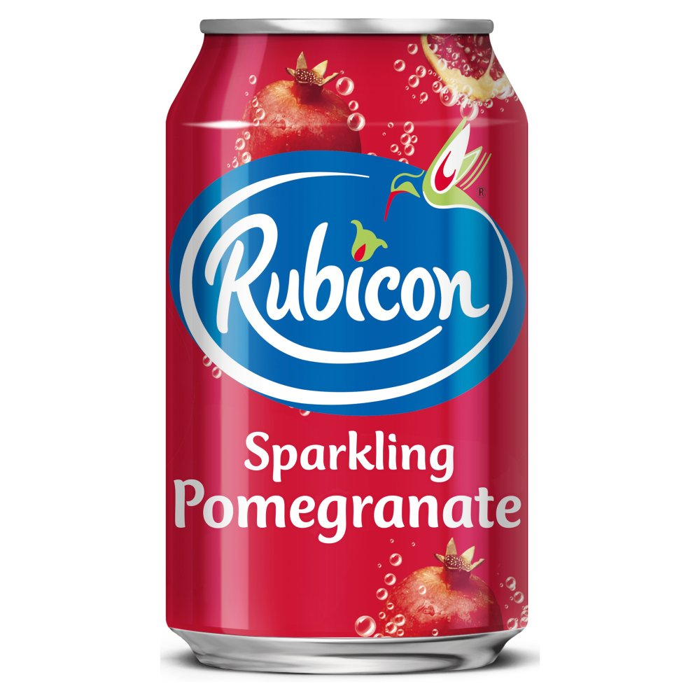 Rubicon Sparkling Pomegranate 330ml Cans 59p