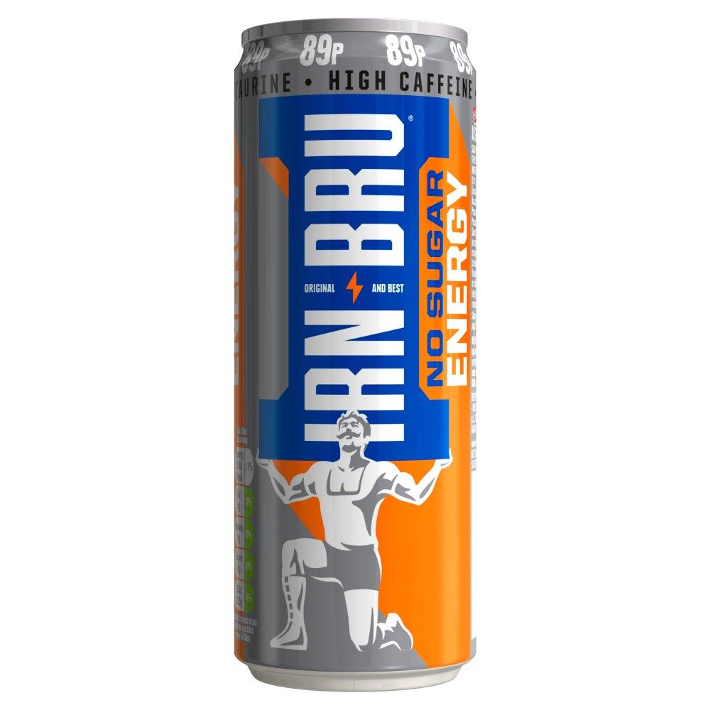 IRN-BRU Energy Drink No Sugar 330ml Can, PMP 89p