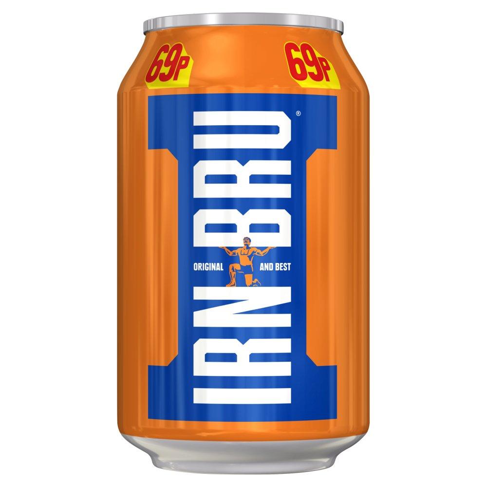 IRN-BRU 330ml Can, PMP, 69p