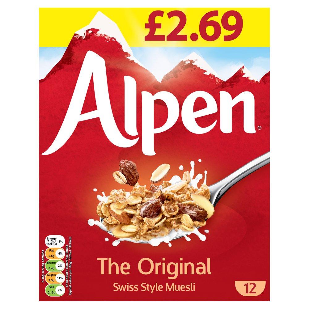 Alpen Muesli Original 6 x 550g Case PMP £2.69
