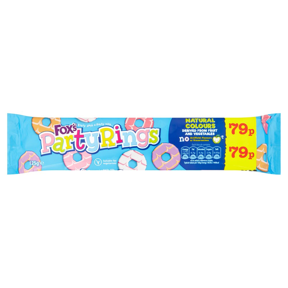 Foxs Iced Party Rings PM 79p