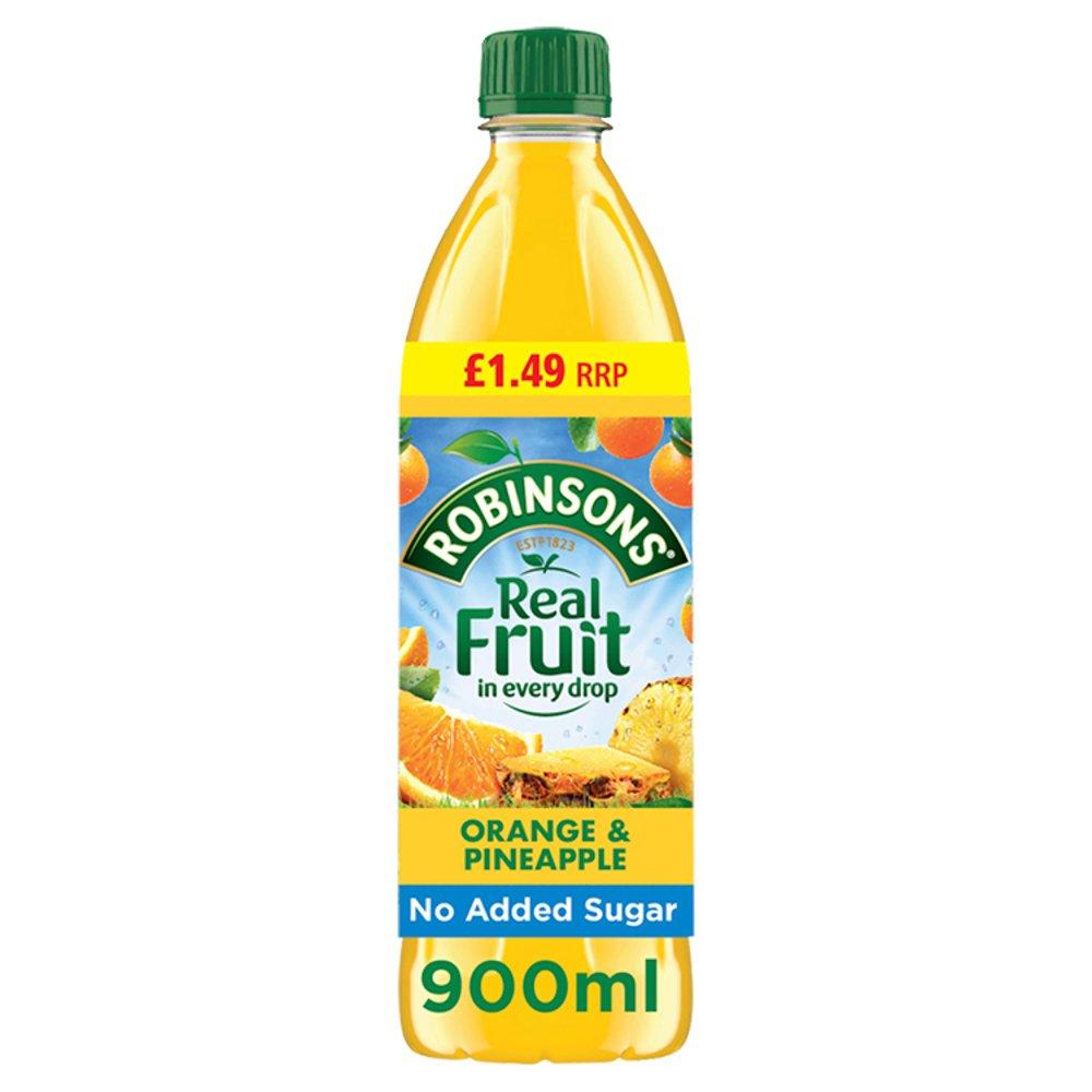 Robinsons Orange & Pineapple No Added Sugar Fruit Squash 12 x 900ml