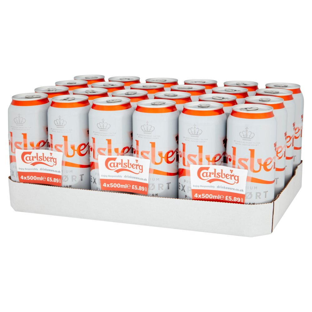 Carlsberg Export Lager 4 x 500ml Cans PMP £5.89
