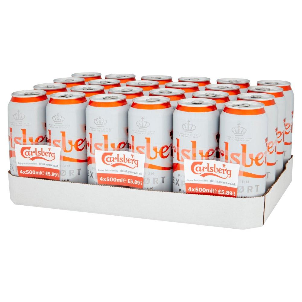 Carlsberg Export Lager Beer 4 x 500ml PMP £5.89