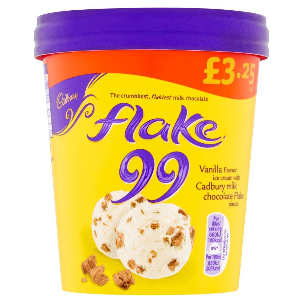 Cadbury Flake 99 Ice Cream Tub 480ml