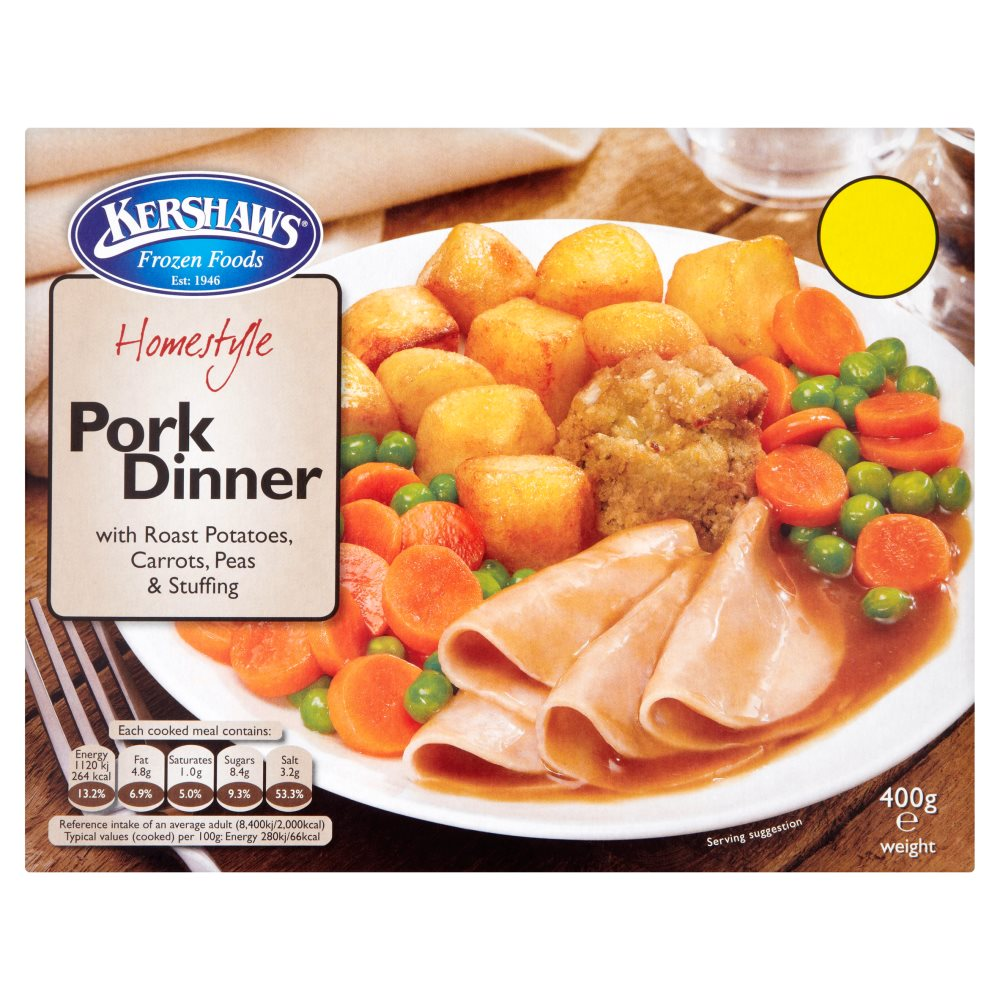 Kershaws Pork Dinner PMP £1.69