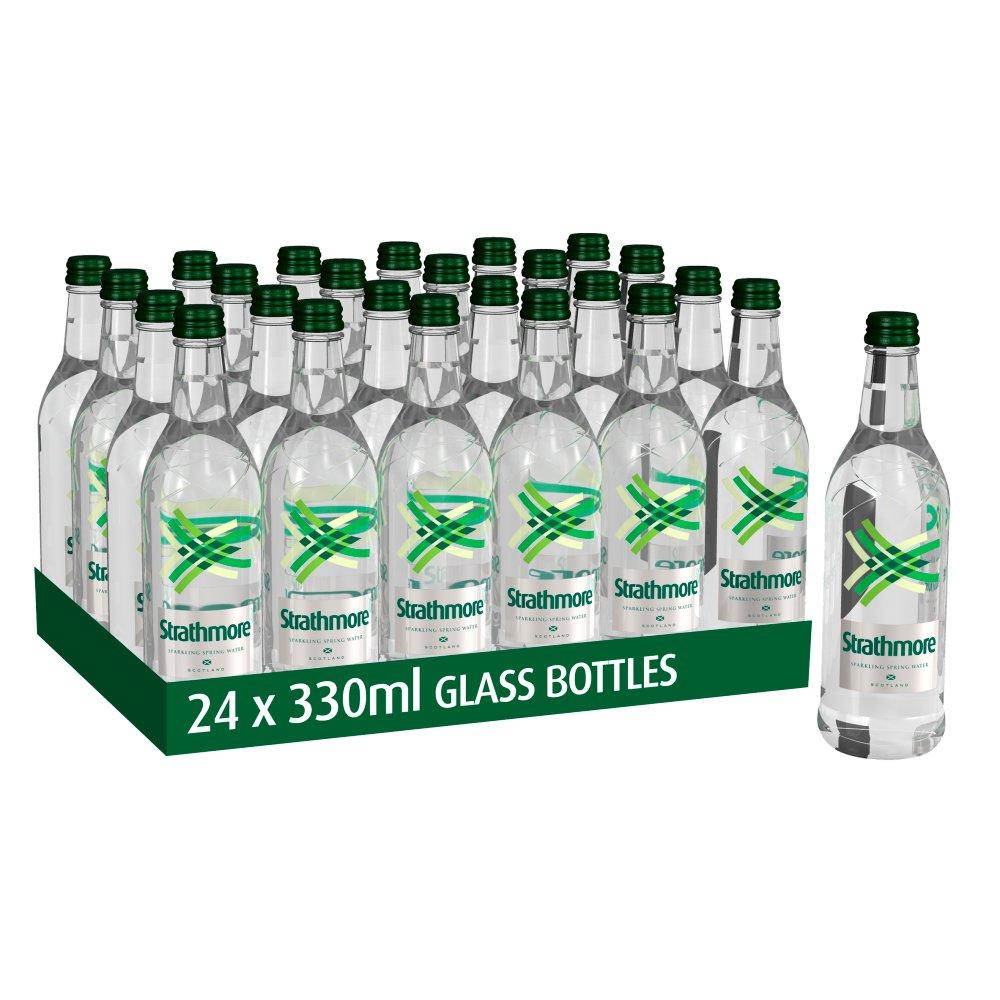 Strathmore Sparkling Spring Water 330ml Glass Bottle