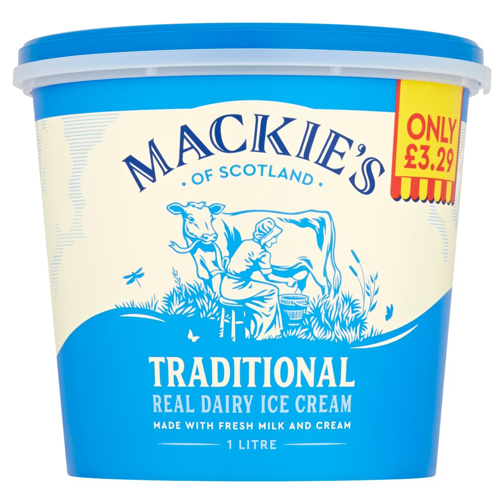 Mackie's of Scotland Traditional Real Dairy Ice Cream 1 Litre