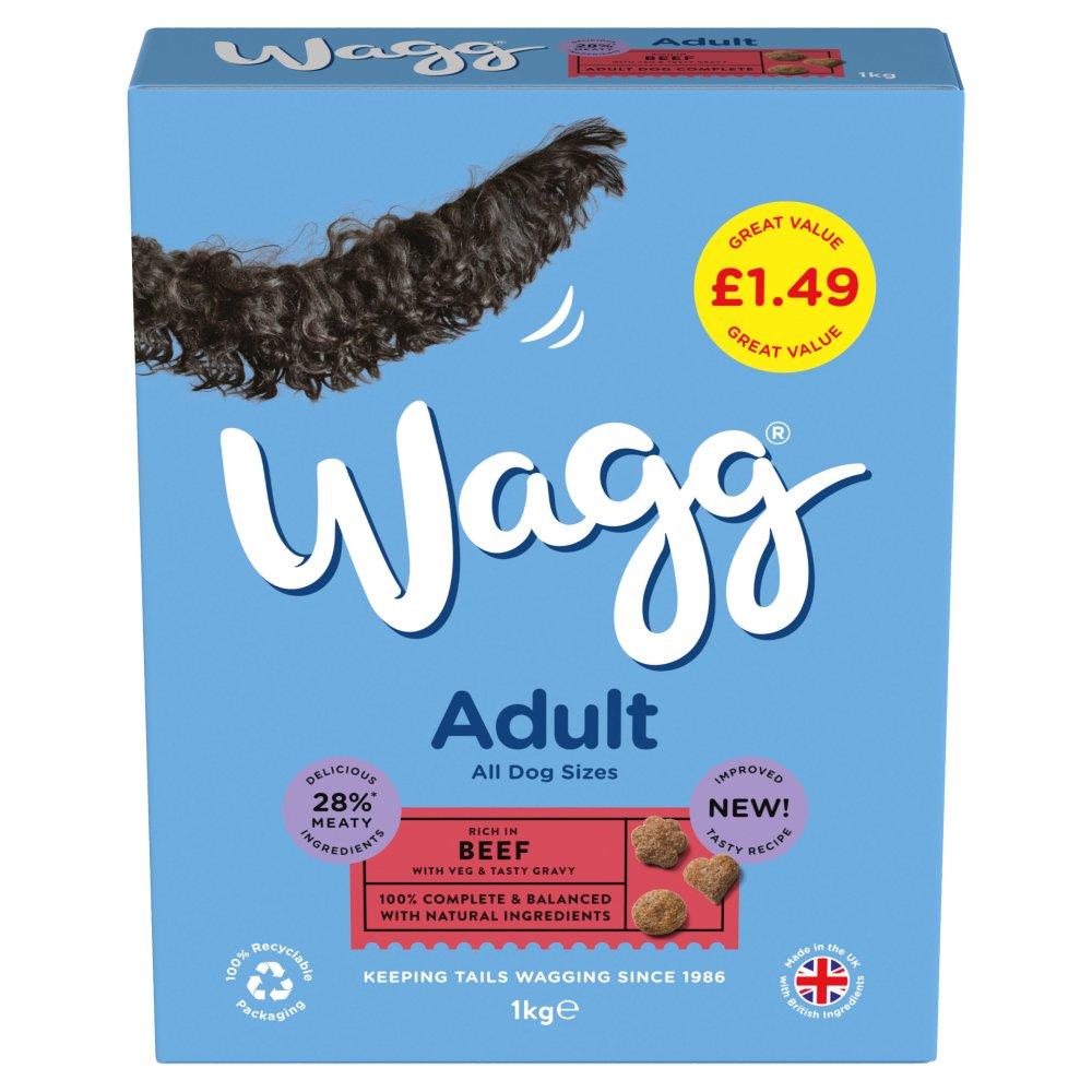 Wagg Adult with Beef & Veg 1kg