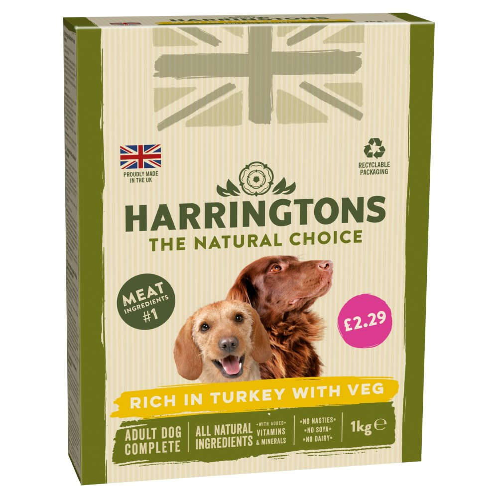 Harringtons Rich in Turkey with Veg Complete Dry Adult Dog Food 1kg