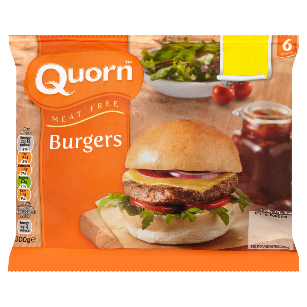 Quorn Burgers 6 Pack 300g