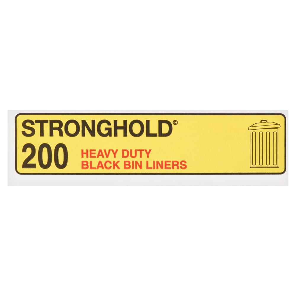 Stronghold 200 Black Bin Liners