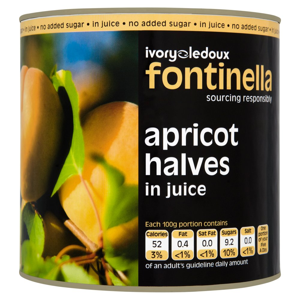 Font Apricot Halves In Natural Juice