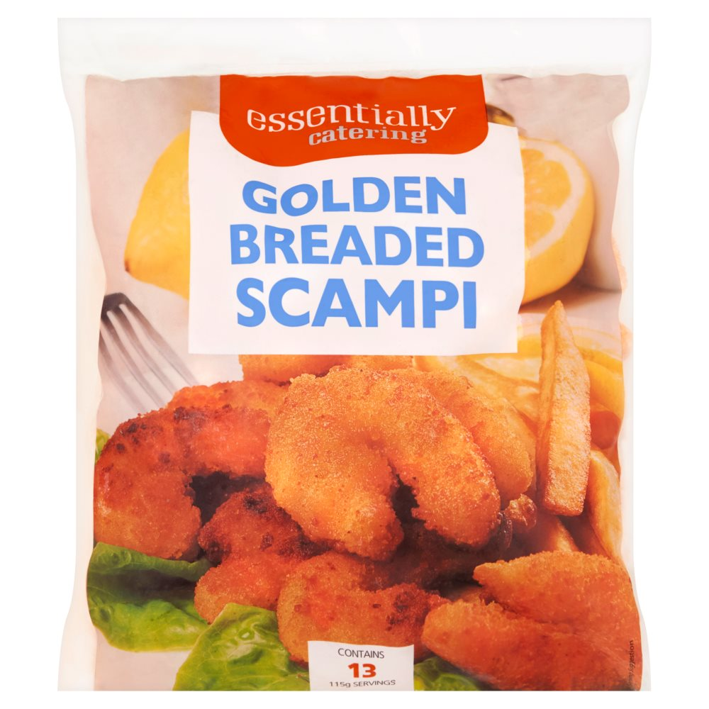 Essentially Catering Golden Breaded Scampi
