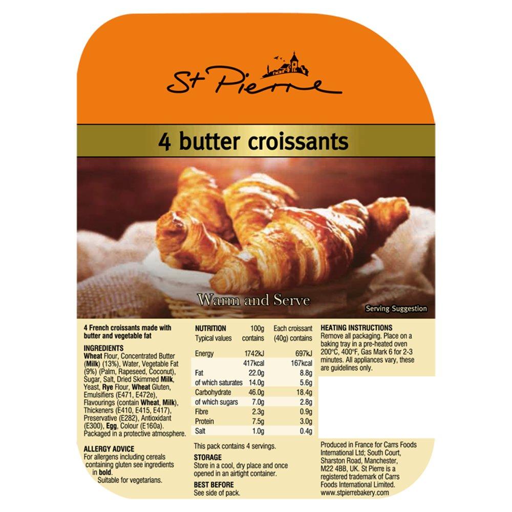 St Pierre 4 Butter Croissants