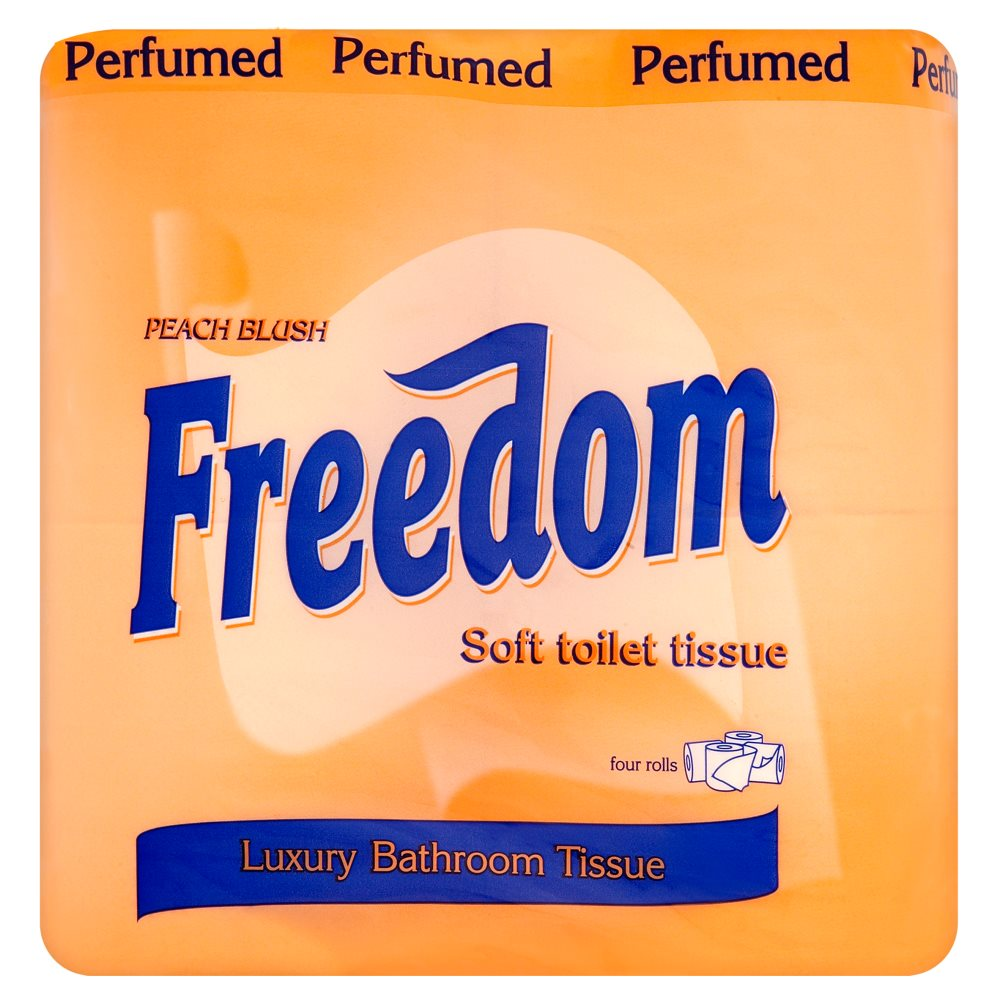 Freedom Toilet Rolls Peach 4pack