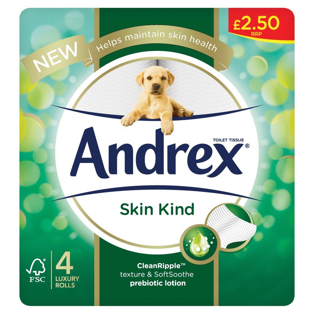 Andrex Skin Kind 4 Luxury Rolls