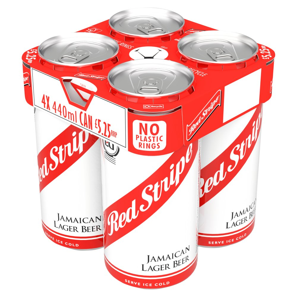 Red Stripe Jamaican Lager Beer 4 x 440ml Can
